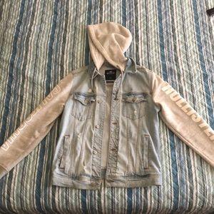 Men's distressed Hollister Denim Jacket/Hoodie